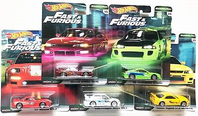 2019 Hot Wheels Fast & Furious Original Fast Premium Set of 5, 1/64 Diecast Cars