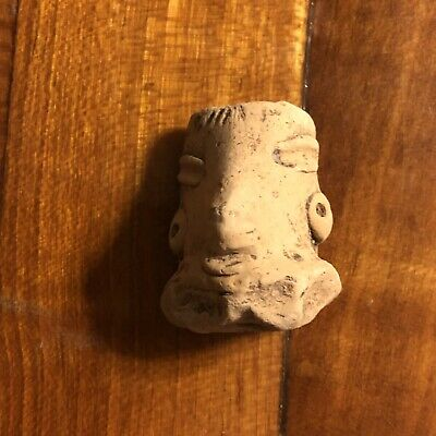 Authentic Pre-Columbian Artifact Antiquity 1200 AD Zoomorphic Face Pottery Old Z
