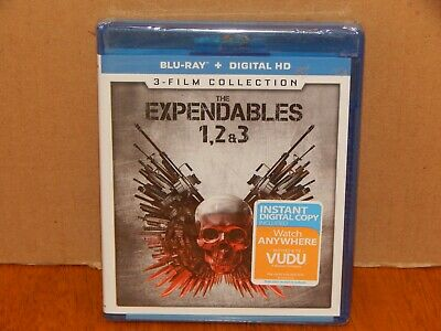 Expendables 3-film Collection New Blu-ray 3 Pack, Ac-3/Dolby Digital Sealed NEW