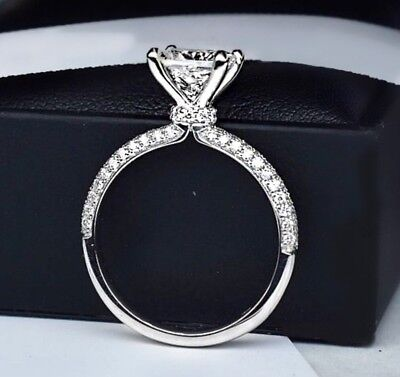 2.00 Ct Round GENUINE Diamond Solitaire Engagement Ring VS2 F 14K Choice
