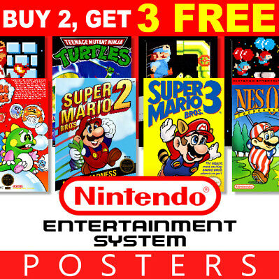 Nintendo NES Game Posters Collection, A4 A3 270gsm Posters Prints Art Wall