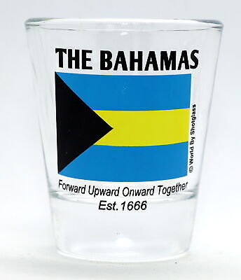 Bahamas Flag Shot Glass Shotglass