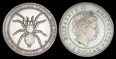 2015 Australian Funnel Web Spider Antique One Troy Ounce Silver Round .999 Pure