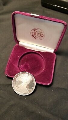 1986-S American Silver Eagle Proof Dollar Bullion Coin(poor condition)