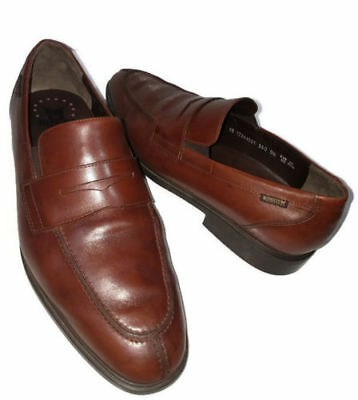 28e536cb77 Mephisto Air-Jet Nilson Brown Leather Penny Loafers Slip-On Shoes Mens 11.5