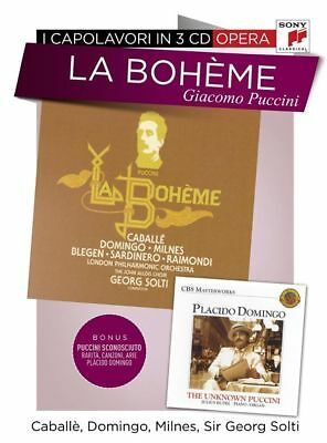 La Boheme Giacomo Puccini Placido Domingo 3 CD Set Opera Music RARE OOP