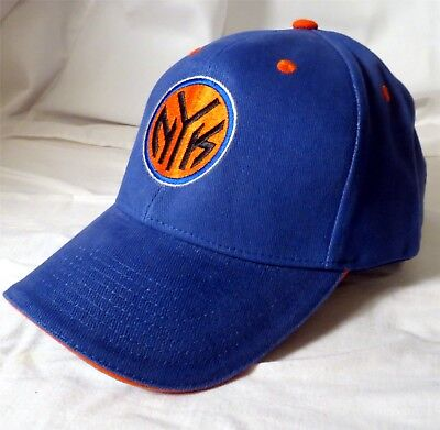promo code 846b7 85df8 New New York Knicks Blue Cap Hat Nba Basketball Adjustable Osfa