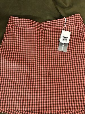 LADY HAGEN Plaid Tennis/Golf Skort Skirt With Built In Shorts Size 2 NWT