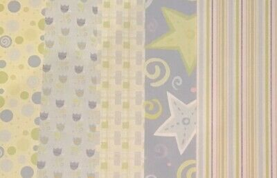 Patterned Pastel Paper Scrapbooking / Card Making / Craft 10 Pieces 15cm X 21cm