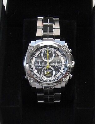 Bulova Men's 47mm Precisionist Stainless Steel Chronograph Watch - 96B175