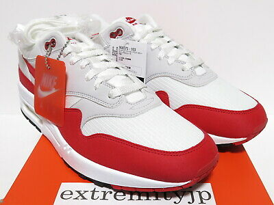 newest d34d3 3f313 DS 2017 NIKE AIR MAX 1 ANNIVERSARY white university red 908375-103 sz 12