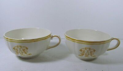 Yves Delorme Rare Gien Soup Cup X 2