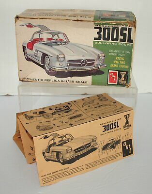 AMT Mercedes Benz 300 SL GULLWING Model Kit Instructions 1965 + BOX ONLY