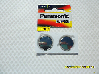 2 X  PANASONIC CR2032 3 V 90 mAh LITHIUM BATTERIES BATTERY POST FROM SYDNEY L