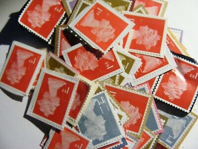 100 1st class stamps  unfranked (lot 2417)