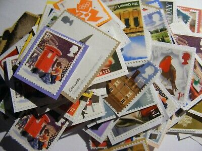 100 1st class xmas mixed stamps unfranked   (lot 2423)