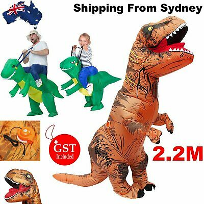 Inflatable Dinosaur Suit Halloween Costume Rider T-REX Jurassic Fancy Dress Part