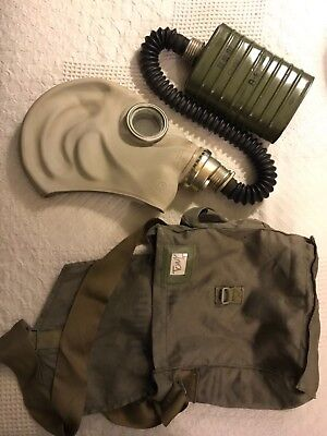 Genuine Military Surplus Polish Gas Mask, Canister and Canvas Bag