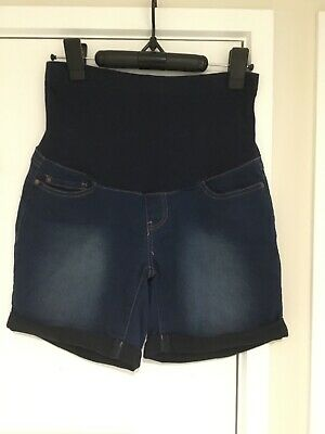 bub2b maternity denim shorts size 8