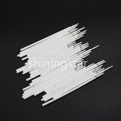 500x Dental Micro Brush Disposable Bendable Applicator Tips Long Cylinder White