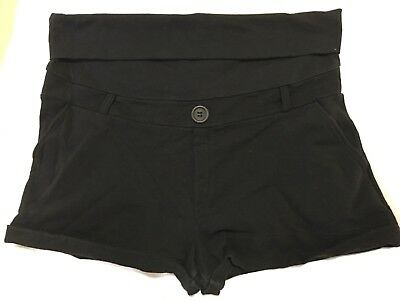 Cute black maternity shorts size medium prenatal brand