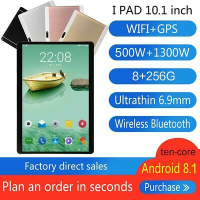 """10.1"""" Tablet Ten Core 8G+256G Android HD 3G Wifi Bluetooth Call PC Laptop Camera"""