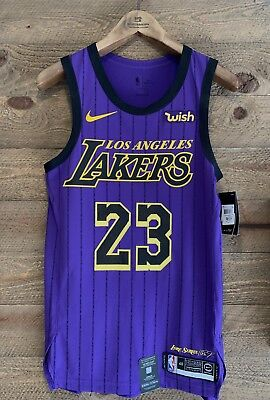 online store 5fa41 f8d8c LEBRON JAMES AUTHENTIC Nike City Edition Jersey NWT. With/WISH Patch!!!