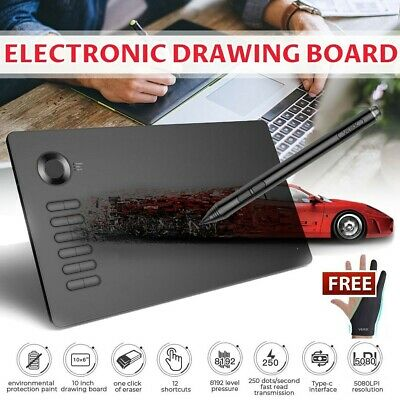 VEIKK A15 RED Digital Drawing Tablet 10*6 Inch 8192 Levels Graphics Board AU