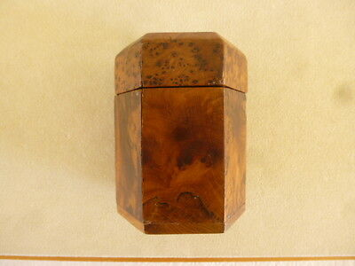 Antique Art Deco Amboyna Burl Wood French Kingwood Tobacco Humidor Cigar Box