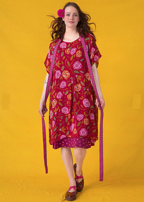 BNWT Gudrun Sjoden Mirabelle Floral Print Viscose Dress Size L/XL UK 16 18 20