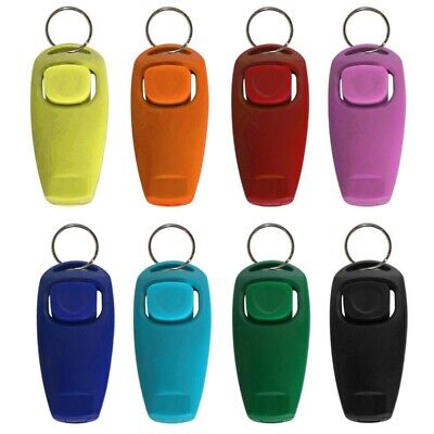 Pets Dog Cat Puppy Click Training Clicker Interactive Obedience Aid Whistle