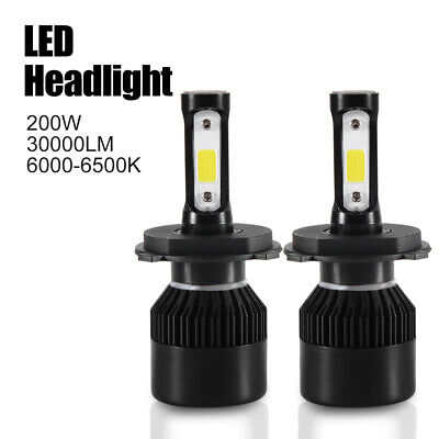 2x 200W H4 HB2 9003 LED Ampoule Voiture Feux Phare Remplacer HID Xénon LD1574