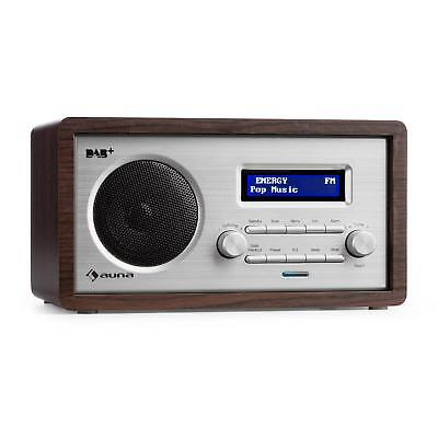 [B-Stock] Digital Radio DAB Alarm Clock FM Tuner Compact Speaker Retro Aux L