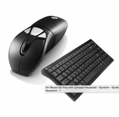 Gyration Air Mouse Go Plus w MotionSense and Compact Keyboard - New