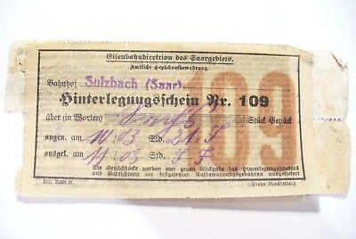 Rare Ancien Billet Allemand Consommation  A Identifier ! A Collectionner