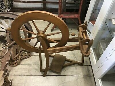Vintage wooden Spinning wheel traditional