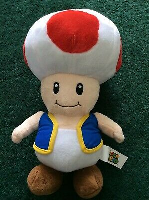 """Official Nintendo Super Mario Large 12"""" Toad Plush Soft Toy Teddy"""
