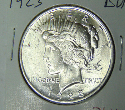 BU 1923 Peace Silver Dollar Uncirculated Philadelphia Mint (83018)