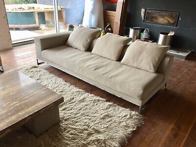 Excellent Large 3 Seater Material Designer Bb Bb Italia Sofa Cost Beutiful Home Inspiration Cosmmahrainfo