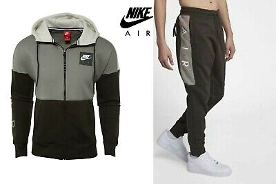 NIKE AIR MEN'S Fleece Hoodie 886044 004 or Track Bottom 886048 355 Contrast Col.