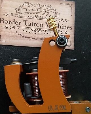 Border Tattoo Machine Packer/shader Iron Frame Brown 8 Layer 32Mm T-Top Coils
