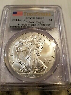 2014(S) Silver Eagle ~ Pcgs Ms69 ~ First Strike