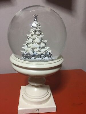 Christmas Scene Dome - Tree Snowy Light Up Lights Xmas Decoration Ornament