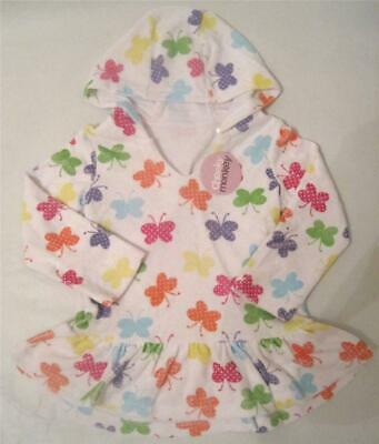 Brand New girls butterfly summer swim towel poncho dress age 9-12 12-18
