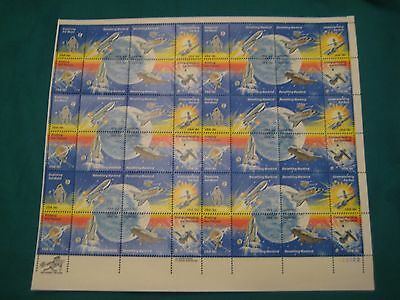 18c Space Achievements-MNH Sheet of 48-Scott# 1912-19