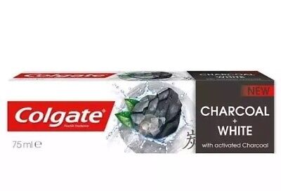 10x Colgate Toothpaste Naturals Charcoal 75ml - White with Activated Charcoal