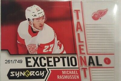 18/19 Synergy Hockey Michael Rasmussen Exceptional Talent Card Serial #d /749