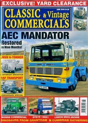 Classic & Vintage Commercials Magazine August 2018 ~ New ~