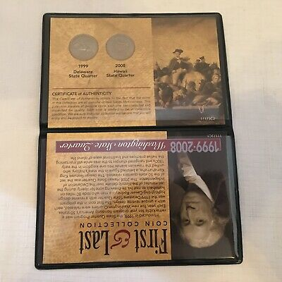 First And Last Coin Collection 1999 & 2008 Washington State Quarters