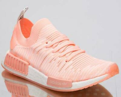 2a5be2505d8ba Adidas Women Nmd R1 Stlt Primeknit Aq1119 Orange White Nib Size 7.5
